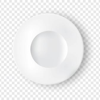 Prato branco realista ou prato