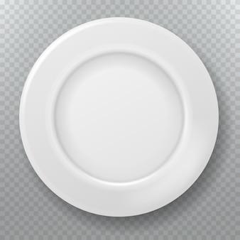 Prato branco vazio. prato de porcelana de cerâmica limpa comida, vista superior do prato ou tigela cozinha cozinha ilustração