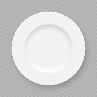 Prato de prato branco realista isolado