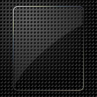 Prato de vidro em fundo preto