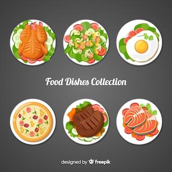 Pratos de comida embalar