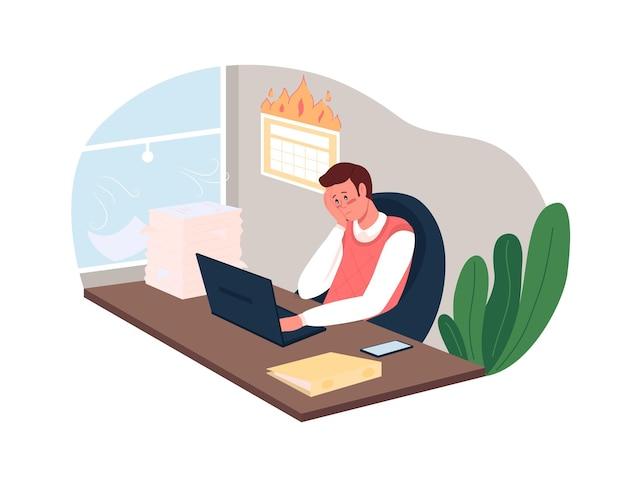 Prazos para ilustração do pôster de carga de trabalho