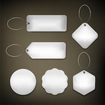 Preço da etiqueta definido cor prata
