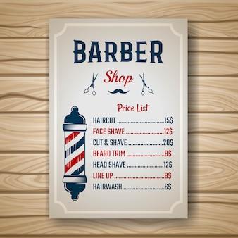Preço de barbeiro colorido