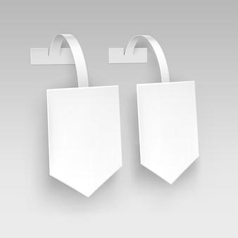 Preço de publicidade em papel de flecha quadrada em branco