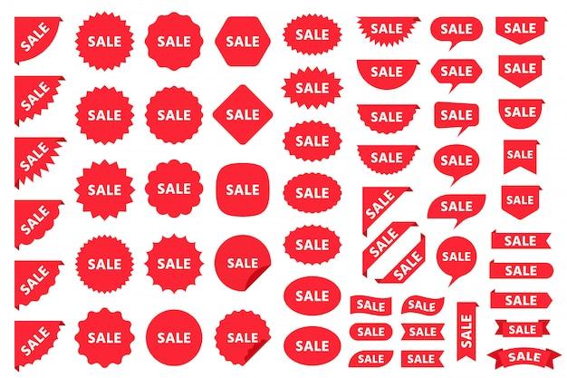 Preço de venda produto emblemas e adesivos. ilustração.