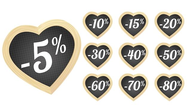 Preços coração ardósias