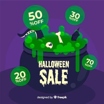 Preços de derretimento em vendas do dia das bruxas