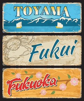 Prefeitura de toyama, fukui e fukuoka