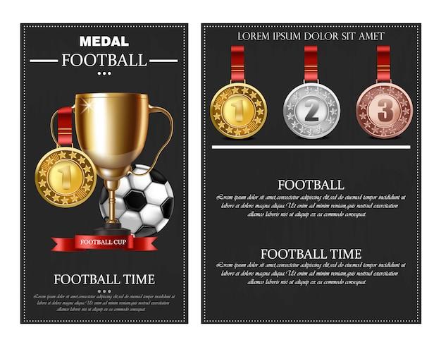 Prêmio de futebol e medalhas