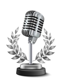 Prêmio de microfone de ouro