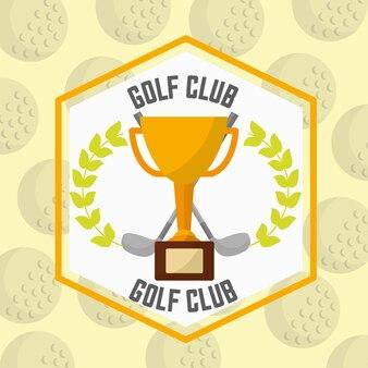 Prêmio de troféu ganhar emblema do clube de golfe