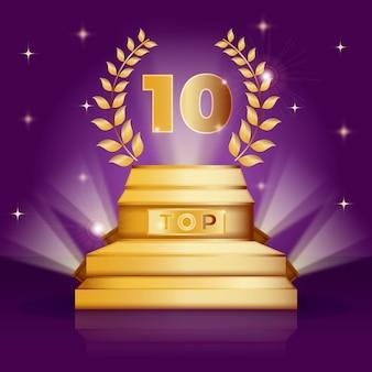 Prêmio dos dez melhores pódio