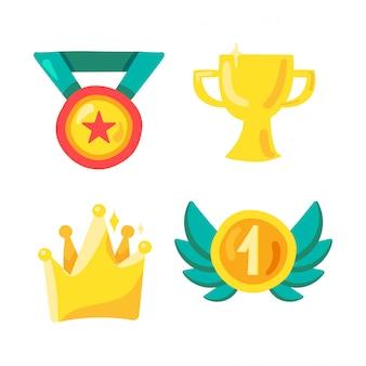 Prêmio e vencedor símbolo no esporte
