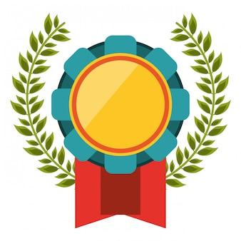 Prêmio emblema símbolo da fita