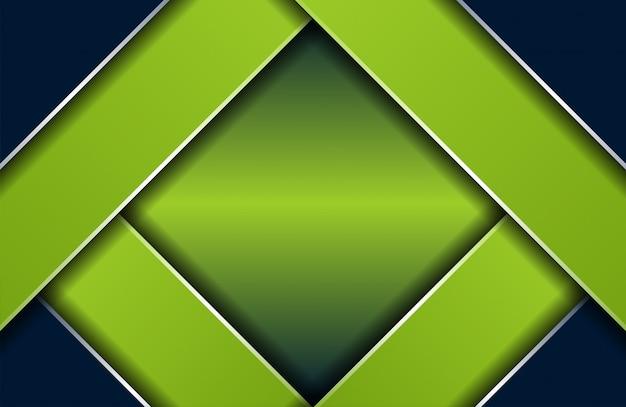 Prêmio escuro moderno abstrato com fundo verde de luxo