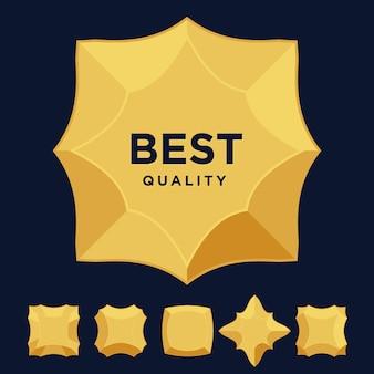 Prêmio estrela medalha de ouro de melhor qualidade