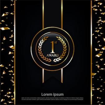 Prêmio medalha de ouro campeão