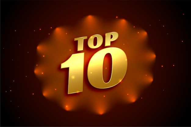 Prêmio top 10 de ouro brilhante