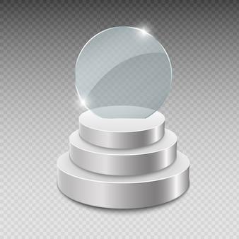 Prêmio troféu de vidro. ilustração