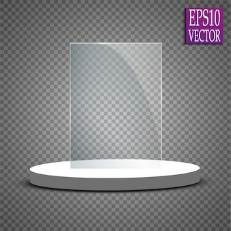 Prêmio troféu de vidro. ilustração.