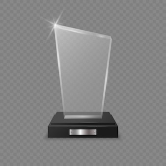 Prêmio troféu de vidro