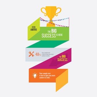 Prêmio vector eps infográfico