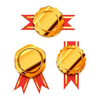 Prêmios de ouro brilhante