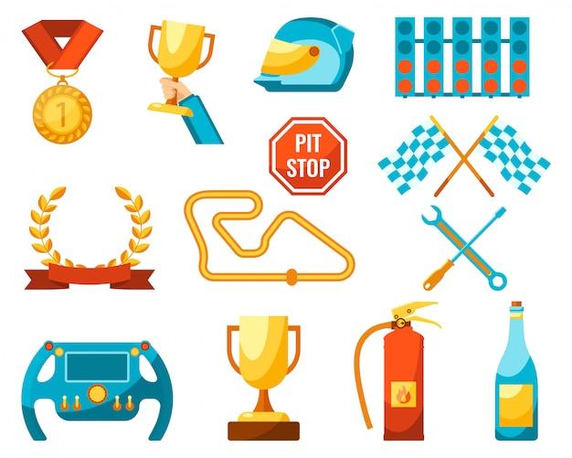 Prêmios de ouro para os vencedores das competições