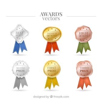 Prêmios realistas e brilhantes