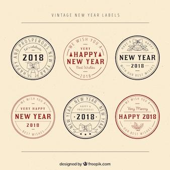 Prêmios redondos do ano novo do vintage
