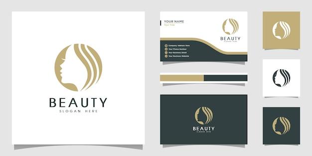 Premium de design de logotipo de beleza natural