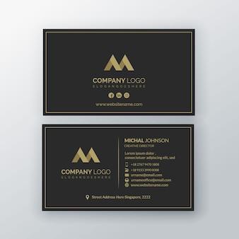 Premium de modelo de cartão de visita de luxo