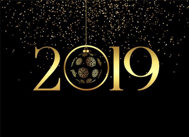 Premium feliz ano novo 2019 fundo