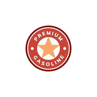 Premium gasolina bandeira icon ilustração