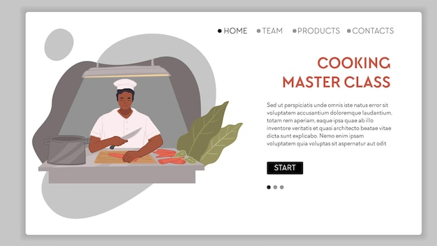 Preparar comida e cozinhar truques de master class