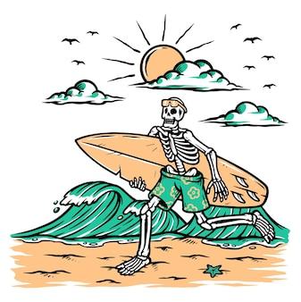 Prepare-se para surfar ilustração