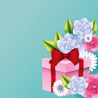 Presente de caixa de presente romântico