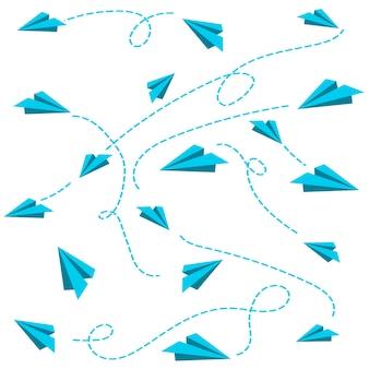 Presente de embrulho de papelão voador