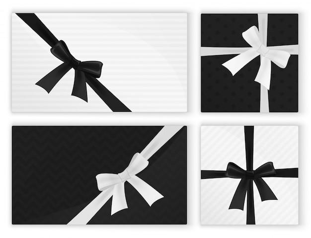 Presente embrulhado branco preto apresenta