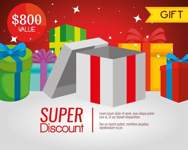 Presente vale presente com venda especial