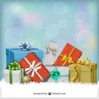 Presentes de natal em 3d