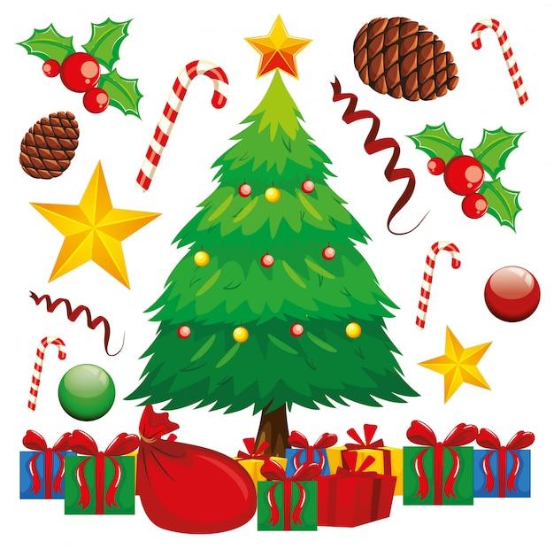 Presentes de natal embaixo da árvore de natal
