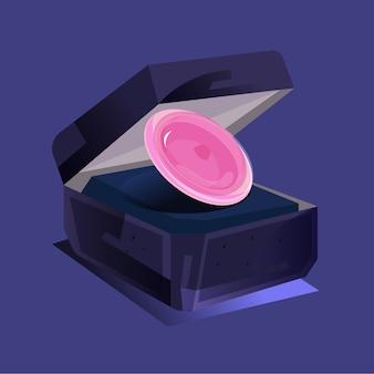 Preservativo como anel de proposta - ilustração