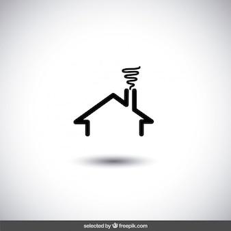 Preto casa logotipo verdadeiro estado