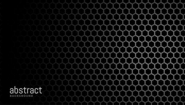 Preto com texturas de malha hexagonal