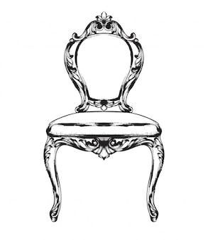 Preto e branco. cadeira barroca rich doodle
