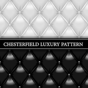 Preto e branco padrão de luxo chesterfield