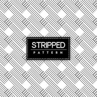 Preto e branco stripped seamless pattern background