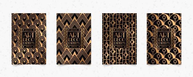Preto e ouro moderno art deco geometria estilo textura de fundo